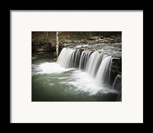 Arkansas Framed Print featuring the photograph 0805-005b Falling Water Falls 2 by Randy Forrester