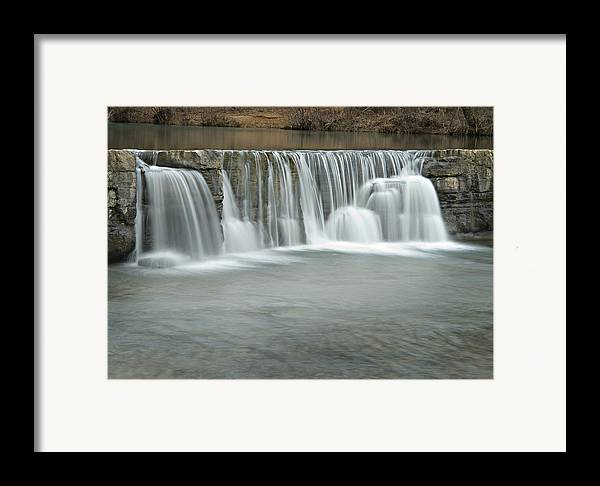 Arkansas Framed Print featuring the photograph 0902-7025 Natural Dam 3 by Randy Forrester