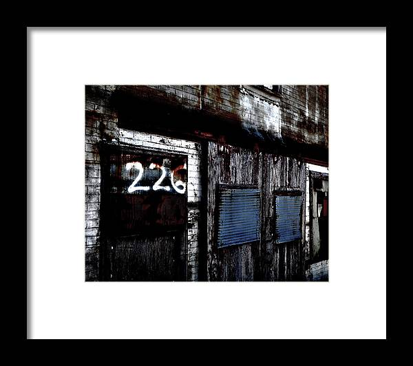 Abandoned Framed Print featuring the photograph 226 by James Bull