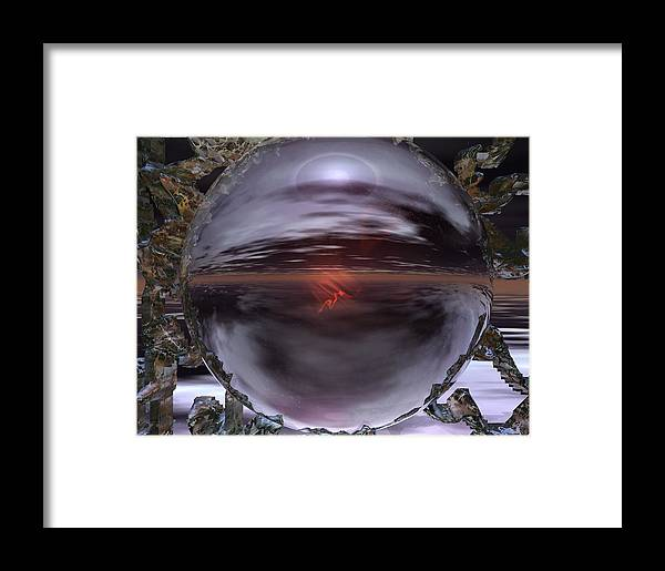 Crystal Ball Framed Print featuring the digital art 318 Your Future by Scott Bishop