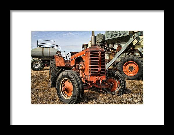Tractors Framed Print featuring the photograph A Case Of Old Age by Edward R Wisell