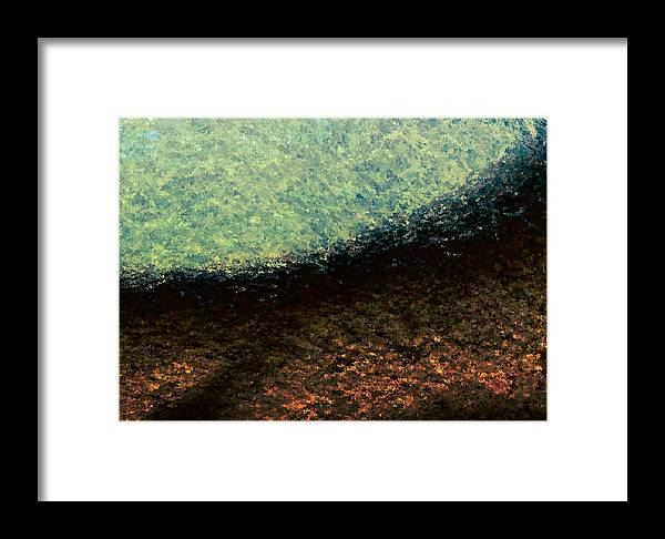 Framed Print featuring the painting A Place To Ponder - Macro1 by Christopher Gaston