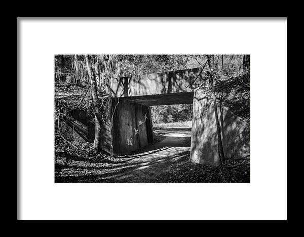 Grafitti Framed Print featuring the photograph Abandoned Railway Bridge Grafitti Art by Lynn Palmer