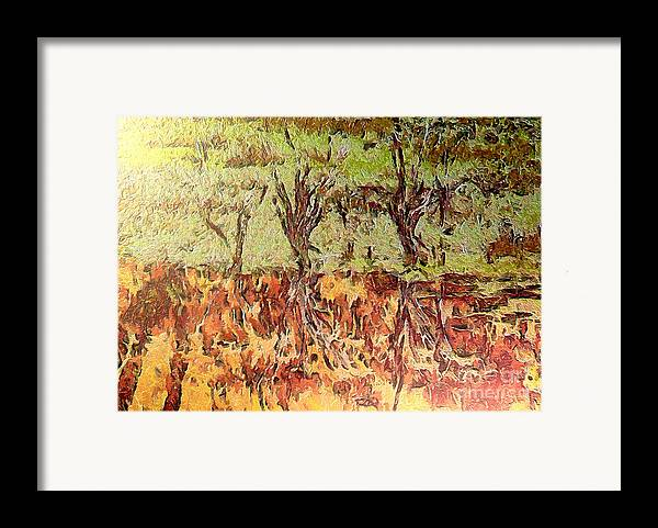 Odon Framed Print featuring the painting Abstract Artwork by Odon Czintos