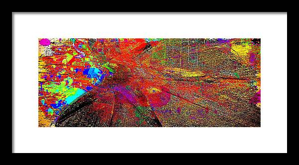 Abstract Multi Colors Framed Print featuring the digital art Abstract by Carrie OBrien Sibley