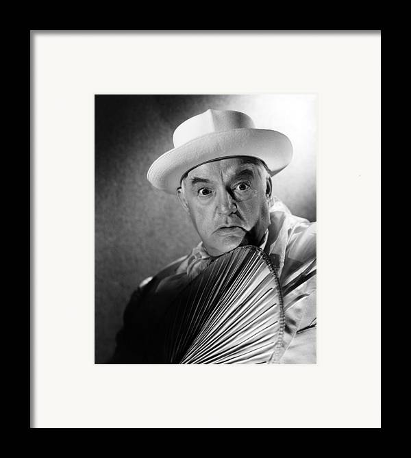 1940s Portraits Framed Print featuring the photograph Across The Pacific, Sydney Greenstreet by Everett