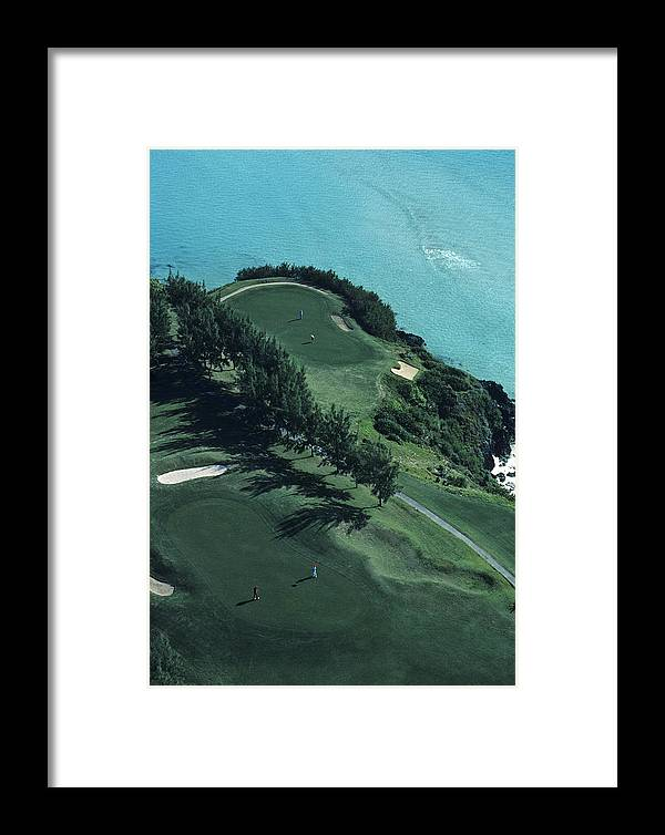 Golf Framed Print featuring the photograph Aerial Of A Golf Course In Bermuda by Kenneth Garrett