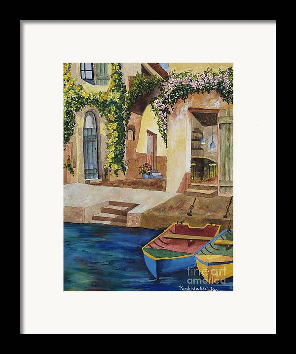 Authentic Inspiration Framed Print featuring the painting Afternoon At The Piazzo by Kimberlee Weisker