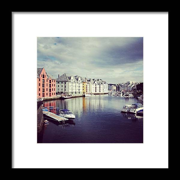 Alesund Framed Print featuring the photograph Alesund - Norway by Luisa Azzolini