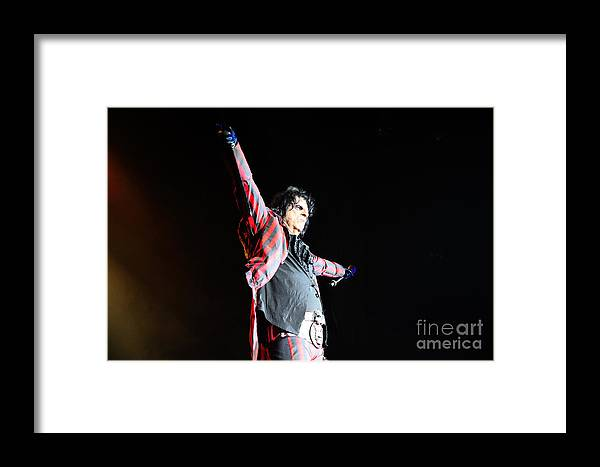 Alice Cooper Framed Print featuring the photograph Alice Cooper by Jenny Potter