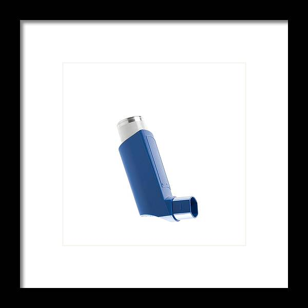 Asthma Framed Print featuring the photograph Asthma Inhaler by