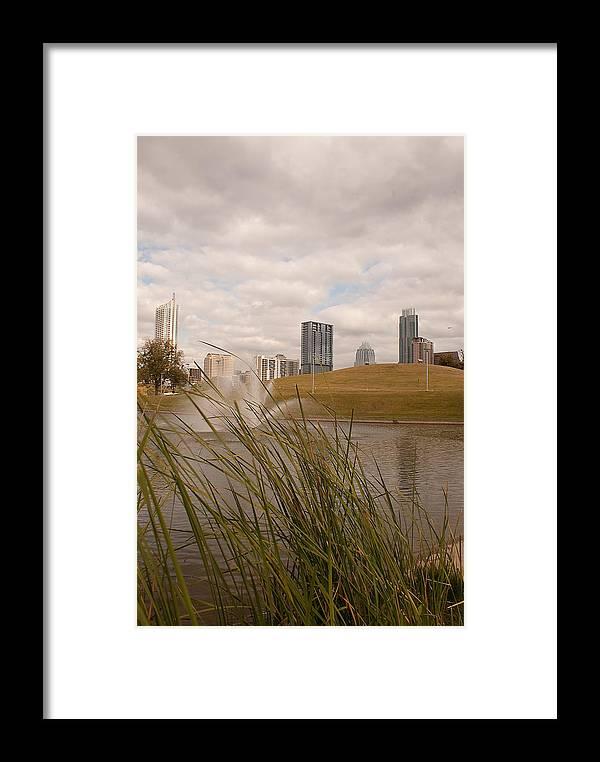 Austin Texas Framed Print featuring the photograph Austin Texas Skyline by Andy Blake