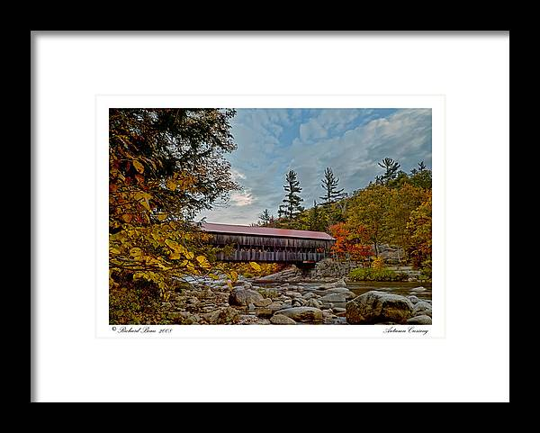 Albany Framed Print featuring the photograph Autumn Crossing by Richard Bean