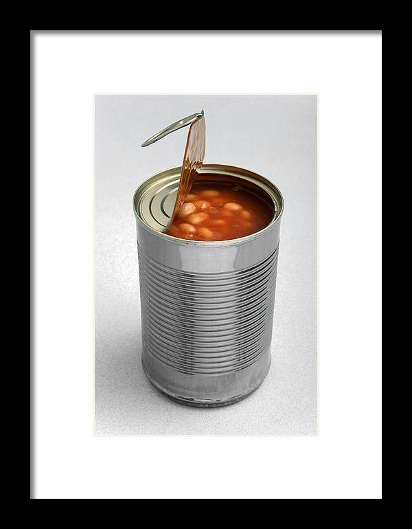 Food Framed Print featuring the photograph Baked Beans In A Can by Victor De Schwanberg