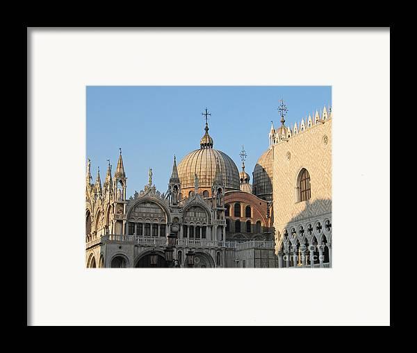 Dome Framed Print featuring the photograph Basilica San Marco by Bernard Jaubert