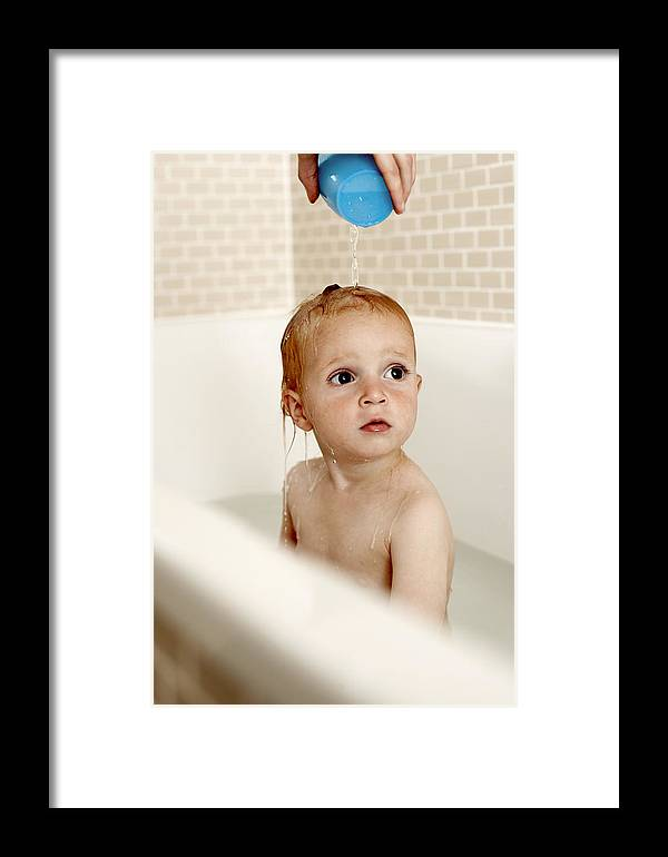 Human Framed Print featuring the photograph Bathing Child by Ian Boddy