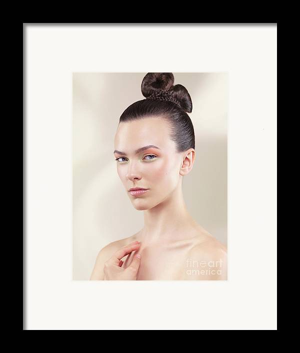 Beauty Framed Print featuring the photograph Beautiful Young Woman Portrait by Oleksiy Maksymenko