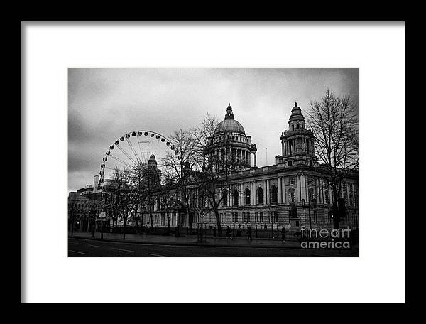 November Framed Print featuring the photograph Belfast City Hall by Joe Fox