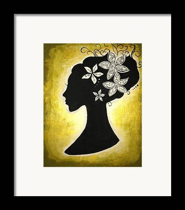 Silhouette Framed Print featuring the painting Bella Dama by Brandy Nicole Neal