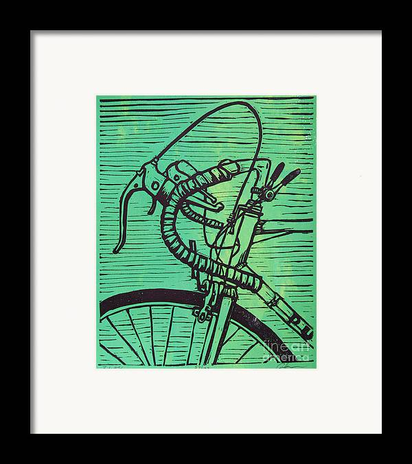 Print Framed Print featuring the drawing Bike 2 by William Cauthern