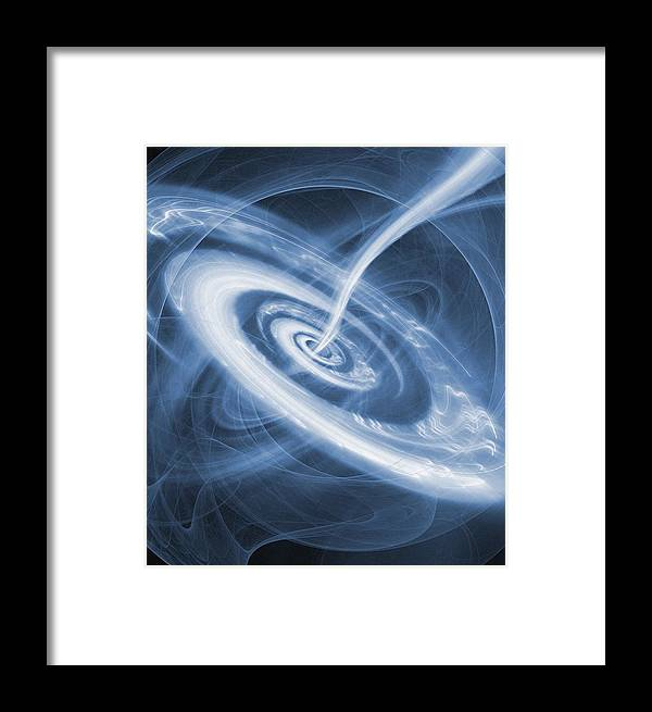 Black Hole Framed Print featuring the photograph Black Hole by Mehau Kulyk