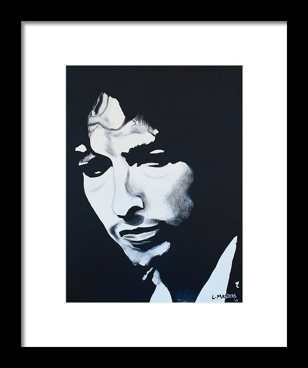 Dylan Framed Print featuring the painting Bob Dylan by Lisa Masters