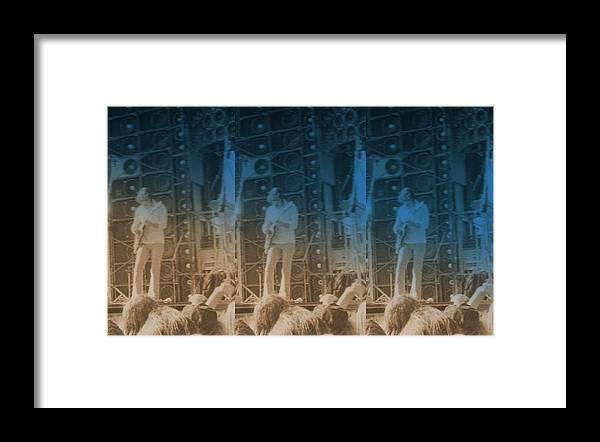 Seven Framed Print featuring the photograph Bob Weir Grateful Dead 74 Dsm Ia by Tim Donovan