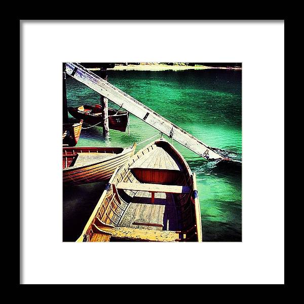 Beautiful Framed Print featuring the photograph Braies by Luisa Azzolini