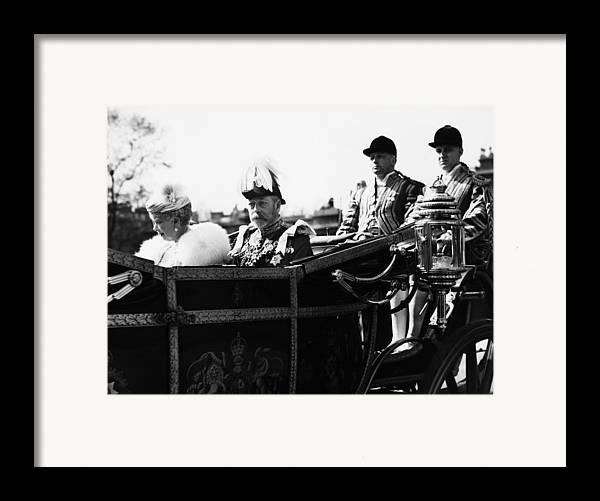 1930s Framed Print featuring the photograph British Royal Family. In Coach British by Everett
