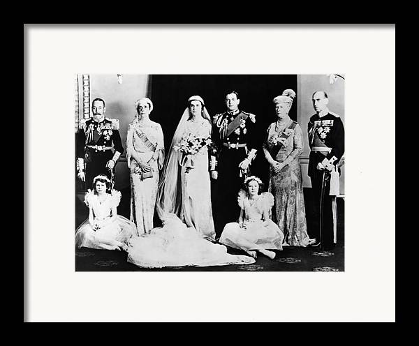 1930s Framed Print featuring the photograph British Royal Family. Seated, From Left by Everett