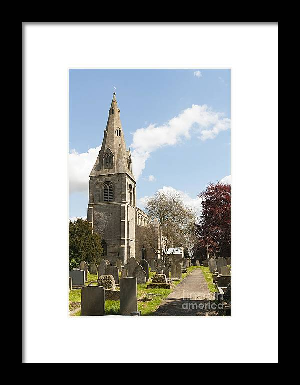 Ancaster Stone Framed Print featuring the photograph Building Church St Peters North Rauceby Linconshire by Hugh McKean