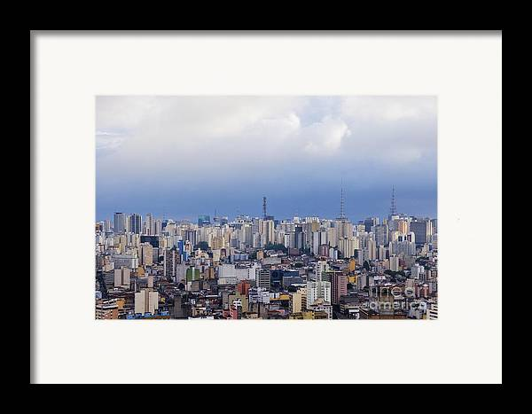 Apartment Framed Print featuring the photograph Buildings Of Downtown Sao Paulo by Jeremy Woodhouse