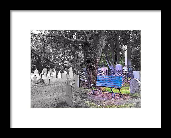 Burial Hill Framed Print featuring the photograph Burial Hill by Janice Drew