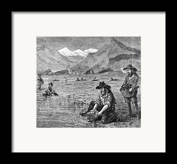 1850s Framed Print featuring the photograph California Gold Rush by Granger