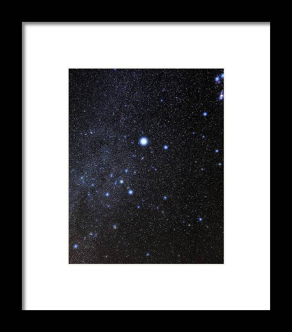 Sirius Framed Print featuring the photograph Canis Major Constellation by Eckhard Slawik