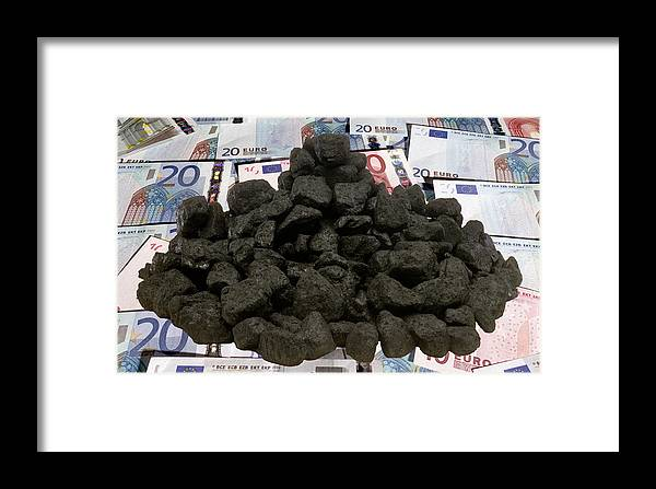 Currency Framed Print featuring the photograph Carbon Trading, Conceptual Image by Victor De Schwanberg