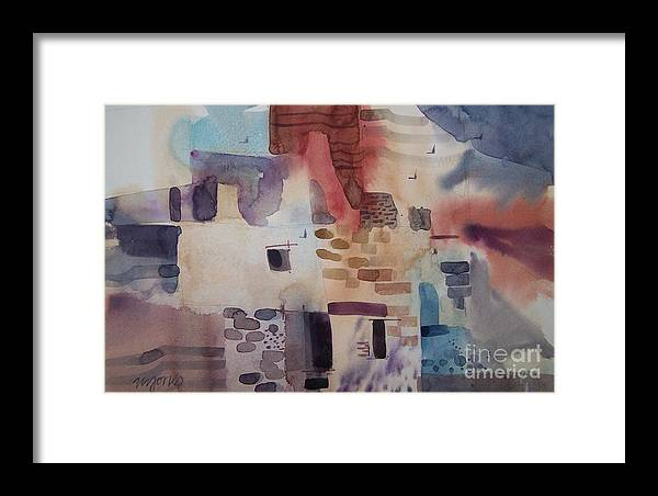 Mesa Verde Framed Print featuring the painting Chaco Canyon by Micheal Jones