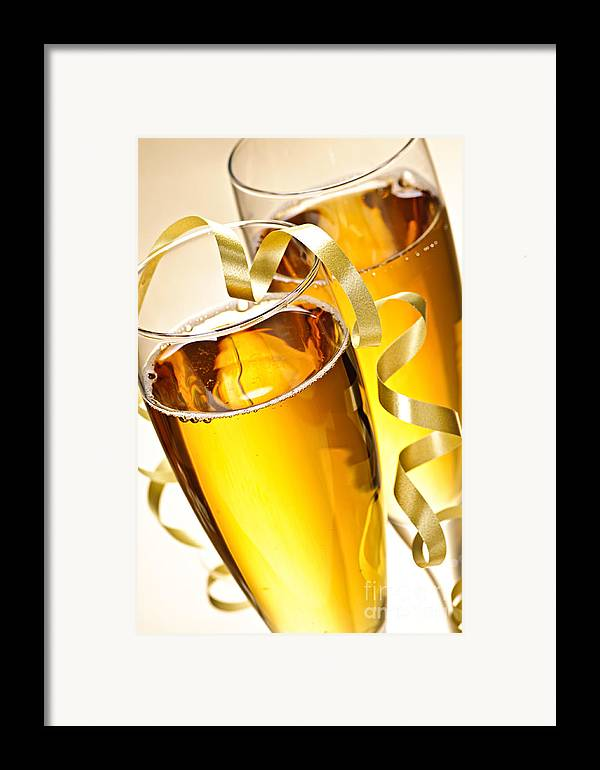 Champagne Framed Print featuring the photograph Champagne Glasses by Elena Elisseeva