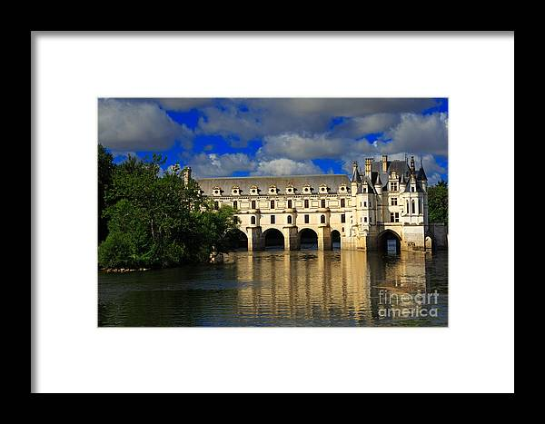 Chateau Framed Print featuring the photograph Chateau Chenonceau by Louise Heusinkveld