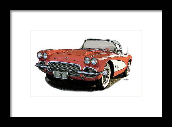 Corvette Framed Print featuring the photograph Chevy Corvette by Larry Linton