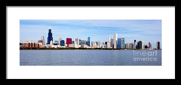 America Framed Print featuring the photograph Chicago Panorama by Paul Velgos