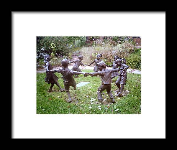 Children Dancing Framed Print featuring the photograph Children Dancing by Laura Folk