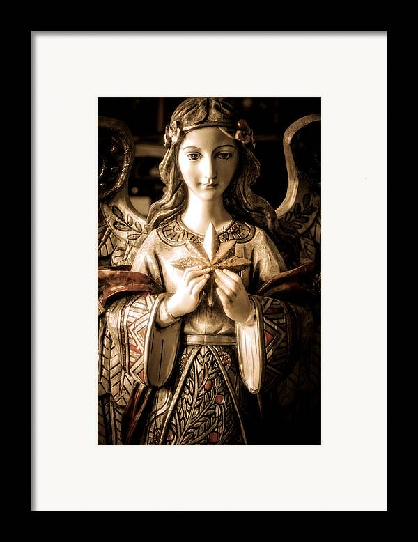 Statue Framed Print featuring the photograph Christmas Angel by Julie Palencia