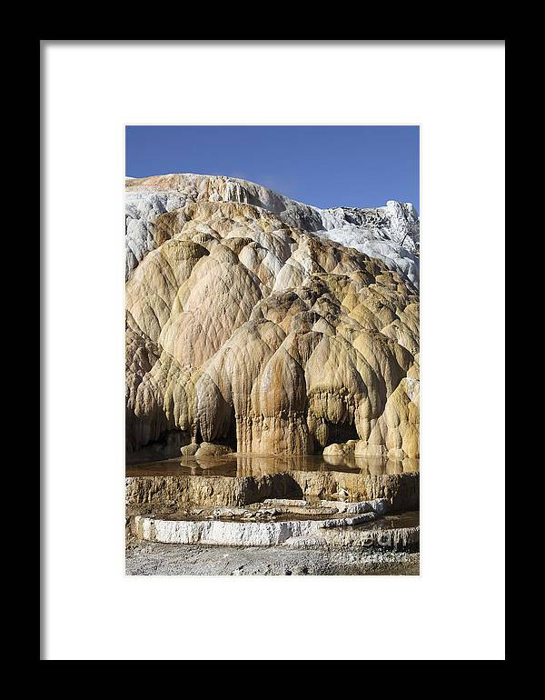 Unesco Framed Print featuring the photograph Cleopatra Terrace, Mammoth Hot Springs by Richard Roscoe