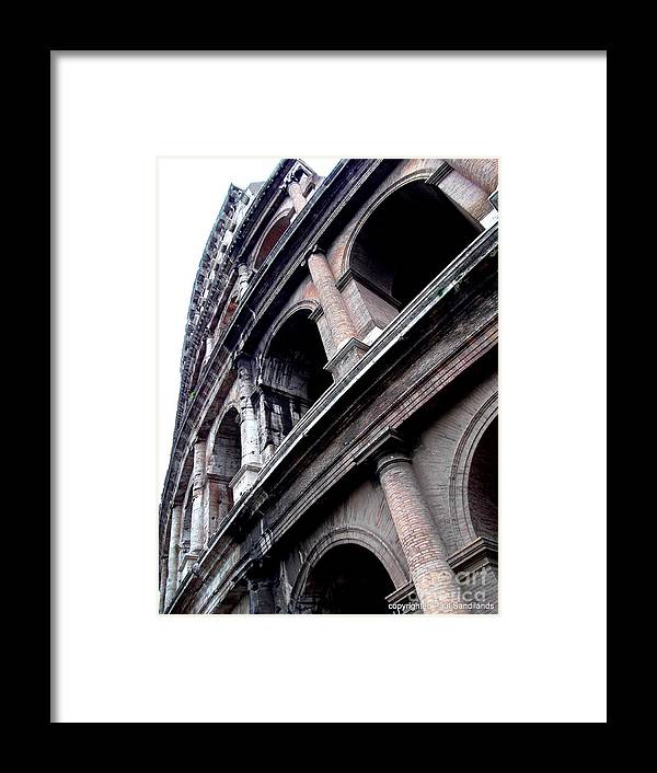 Colosseum Framed Print featuring the photograph Coloseum by Paul Sandilands