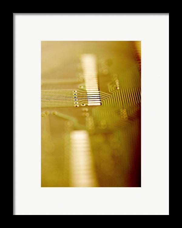 Component Framed Print featuring the photograph Computer Circuit Board by Tim Vernonlth Nhs Trust