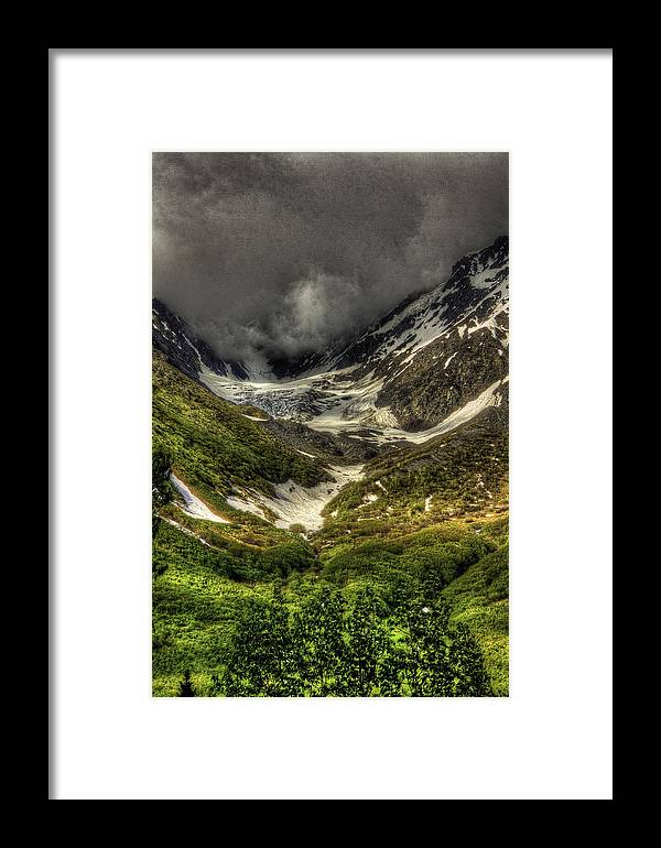 Alaska Framed Print featuring the photograph Cow Creek Drainage by Grover Woessner