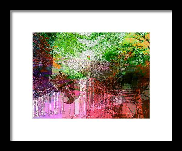 Framed Print featuring the digital art Crawl Space by Ginger Egerton