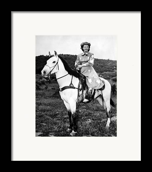 1950s Candids Framed Print featuring the photograph Dale Evans 1912-2001, American Actress by Everett