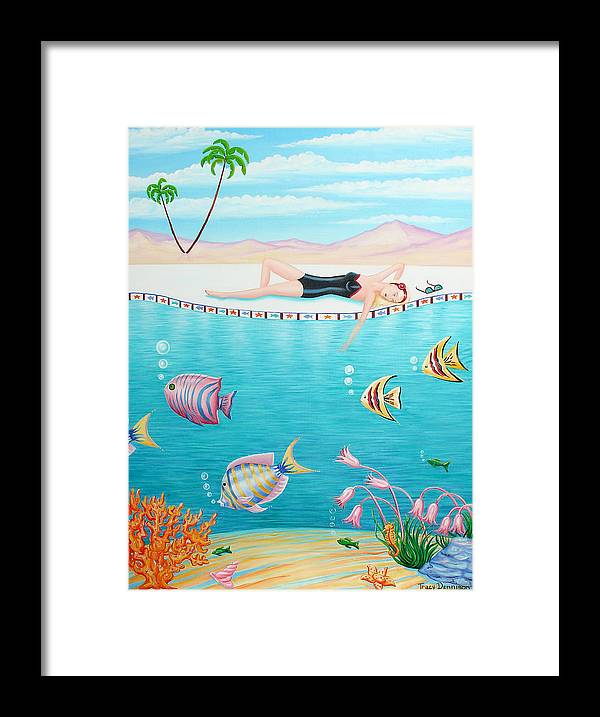 Fantasy Framed Print featuring the painting Day Dreamer by Tracy Dennison